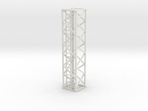 Light Tower Middle 1-87 HO Scale in White Natural Versatile Plastic