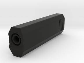Hexa Silencer (139.5mm Long) (14mm Self-Cutting Th in Black Natural Versatile Plastic