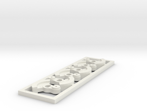 DSA Counter weights in White Natural Versatile Plastic