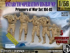 1/56 Antarctic Troops Set104-03 in Smooth Fine Detail Plastic