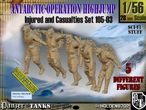 1/56 Antarctic Troops Set105-03 in Smooth Fine Detail Plastic