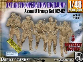 1/48 Antarctic Troops Set102-02 in Smooth Fine Detail Plastic