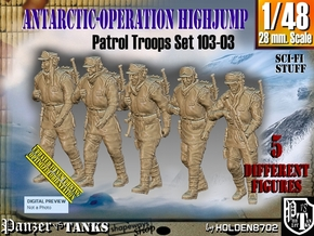 1/48 Antarctic Troops Set103-03 in Smooth Fine Detail Plastic