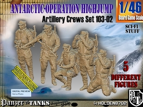1/46 Antarctic Troops Set103-02 in Smooth Fine Detail Plastic