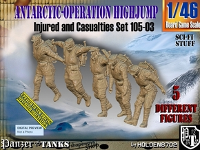 1/46 Antarctic Troops Set105-03 in Smooth Fine Detail Plastic