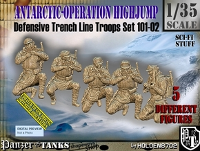 1/35 Antarctic Troops Set101-02 in Smooth Fine Detail Plastic