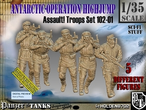 1/35 Antarctic Troops Set102-01 in Smooth Fine Detail Plastic
