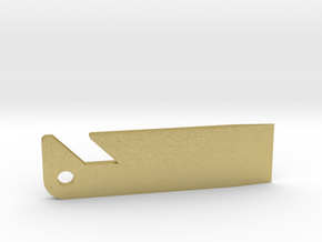 Sardine Bottle Opener in Natural Brass