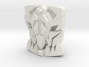 "Onyx Prime ""Beast Face"" Matrix Plate in White Natural Versatile Plastic"