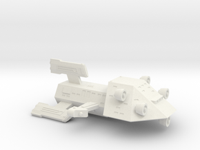 3788 Scale Kzinti Scout Drone War Destroyer (SDW) in White Natural Versatile Plastic