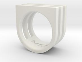 Ring - Triniti in White Premium Versatile Plastic: 4 / 46.5