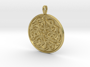 Jelling Style Medallion in Natural Brass