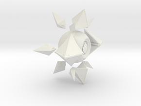 Sagiras Ghost Shell in White Natural Versatile Plastic