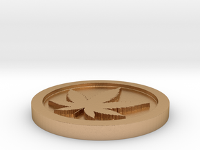 Weed/Marijuana Themed Coin/Token For Checkers, Pok in Natural Bronze