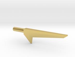 Blackstar Star Sword (3mm, 4mm, 5mm) in Polished Brass: Extra Small