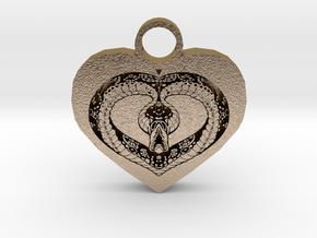 love bug pendant in Polished Gold Steel