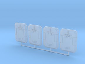Ballistic shield in Smooth Fine Detail Plastic
