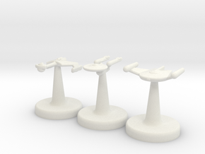 Game Piece TOS Ships 15mm in White Natural Versatile Plastic