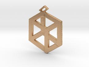 Medium Pandora's Box Pendant v2 in Natural Bronze