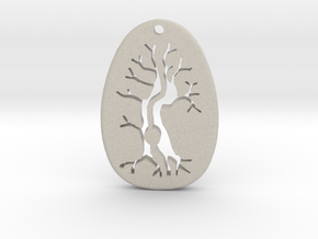 Morro Tree Pendant  in Natural Sandstone