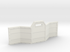 Gun Line Barricade in White Natural Versatile Plastic