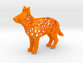 German shepherd in Orange Processed Versatile Plastic
