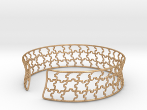 jigsaw pattern cuff in Natural Bronze: Medium