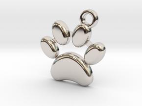 paw necklace in Platinum