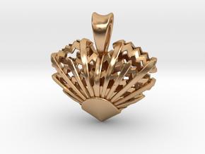 Romantic Sunrise Pendant in Polished Bronze: Small