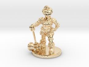 Mechanic_Female_Standard in 14k Gold Plated Brass