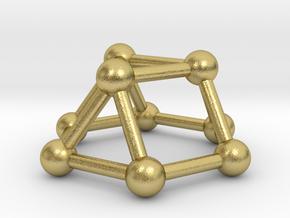 0727 J03 Triangular Cupola V&E (a=1cm) #3 in Natural Brass
