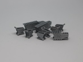 N Scale Grocery Carts in Smooth Fine Detail Plastic