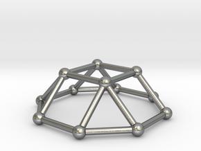 0729 J04 Square Cupola V&E (a=1cm) #2 in Natural Silver