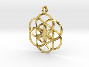 Seed Of Life in Polished Brass