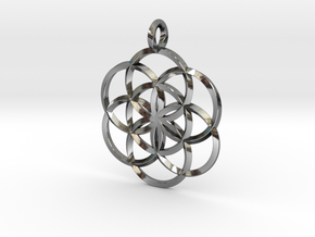 Seed Of Life in Fine Detail Polished Silver