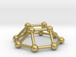 0730 J04 Square Cupola V&E (a=1cm) #3 in Natural Brass