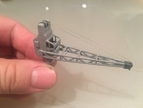 3 to ship crane, movable, 1:200 scale in White Processed Versatile Plastic