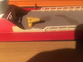 small modern ship crane (1:200) in Smooth Fine Detail Plastic