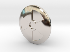Shooter Knob - Nuclear (TNA) in Rhodium Plated Brass