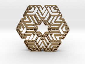 hangerless pendant 13 in Polished Gold Steel