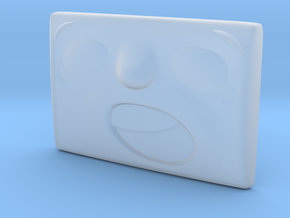 Small Surprised Face in Smoothest Fine Detail Plastic