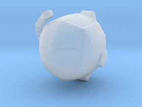 SpaceHelmetv2 in Smooth Fine Detail Plastic