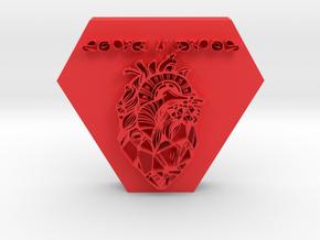 love is evol pendant 1 in Red Processed Versatile Plastic