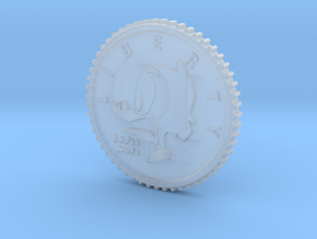 Cursed Scrooge #1 Dime Prop/Pendant in Smooth Fine Detail Plastic: Small