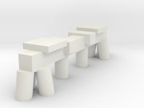 Bridge Piling in White Natural Versatile Plastic