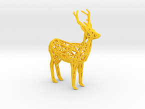 Deer in Yellow Processed Versatile Plastic