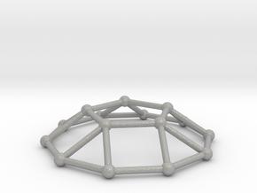 0732 J05 Pentagonal Cupola V&E (a=1cm) #2 in Aluminum