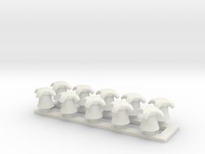 driepunt bolder klein in White Natural Versatile Plastic