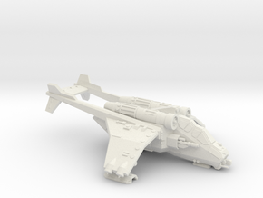 15mm Assault Gunship in White Natural Versatile Plastic