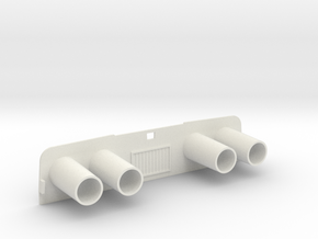 Captain Action IDEAL Exhaust  in White Natural Versatile Plastic